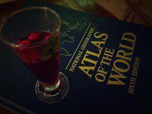 atlas with wine