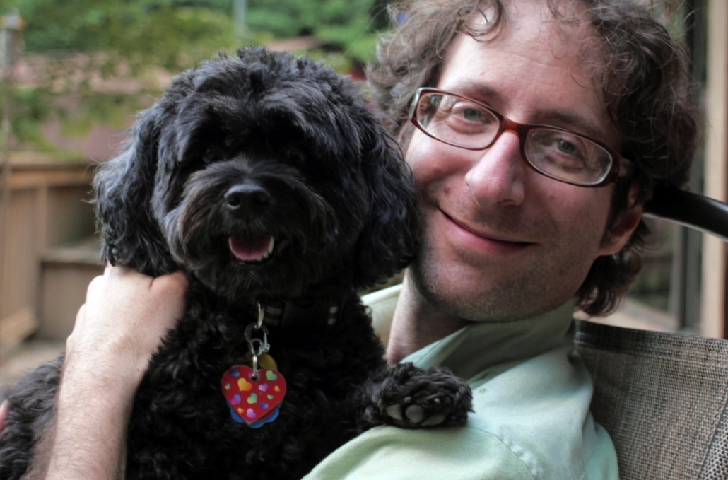 Another happy housesitting client smiling with veterinarian house sitter Dr. Adam